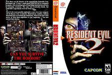 Resident Evil 2 CUSTOM SEGA DREAMCAST CASE (NO GAME)