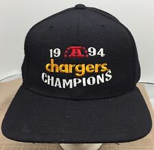 Vtg San Diego Chargers Vintage 1994 AFC Champions NFL New Era Wool Snapback Hat