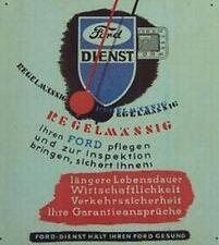 Älteres Blechschild Ford Dienst Werkstatt Reklame Werbung gebraucht used