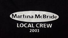 NEW Martina Mcbride 2003 XL T Shirt Local Crew Either You Rock Or You Suck