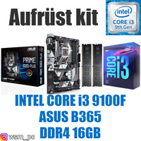 PC Kit Set 💙 Intel Core i3 9100F ✔ ASUS B365 Mainboard ✔ DDR4 16GB ✔