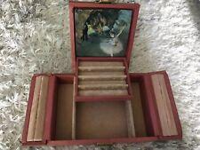 Vintage Jewelry Box Display Shabby Pink Ballet Velvet Ballet Renoir Chic C2