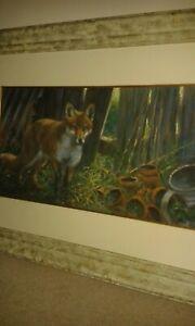 Joel Kirk Original Pastel 'Fox'