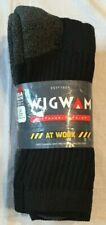 New Wigwam 'At Work' Crew Socks, S1221 3 Pack, USA , Black