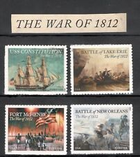 4703-4805-4921-4952 War of 1812 Complete Set Of 4 Mint/nh Free Shipping (A34)
