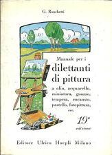 MANUALE PER I DILETTANTI DI PITTURA, G. Ronchetti, Hoepli 1980 **pp56