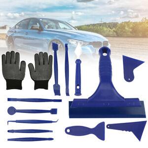 13 in 1 Car Window Film Tint Tool Kit Blue Gloves Vinyl Wrap Squeegee Scraper