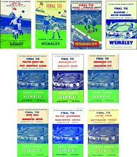FA CUP FINAL PROGRAMME COVER FRIDGE MAGNETS 1950 to 1959