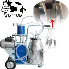 CA Electric Milking Machine Milker Farm Cow Vacumm Piston Pump Big 25L Quick Use