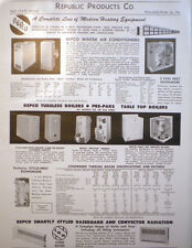 Republic Products Borg Warner ALFOL ASBESTOS Furnace Insulation Page Ad 1954