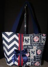 NEW Handmade NY New York Yankees MLB Baseball Tote Purse Handbag