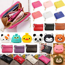 Women Girls Mini Purse Coin Wallet Zip Coin Card Holder Small Clutch Bag Handbag