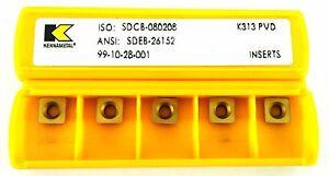 KENNAMETAL SDEB26152 SDCB 08 02 08  CARBIDE INSERT PACK OF 10