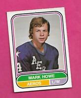 RARE 1975-76 OPC WHA # 7 AEROS MARK HOWE ROOKIE GOOD CARD (INV# D2082)