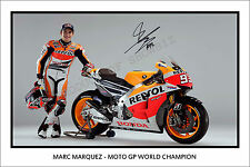 * MARC MARQUEZ * SIGNED MOTO GP CHAMPION PRINT, GREAT COLLECTABLE, DONT MISS OUT