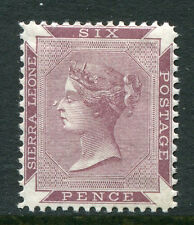 SIERRA LEONE ~ #1a Very Nice Mint Light Hinged Issue QUEEN VICTORIA ~ S5342