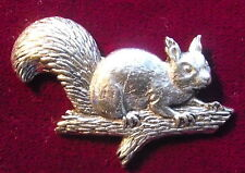 Quality Pewter Squirell on a Branch Pin Brooch