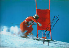 Franz KLAMMER Signed 12x8 Autograph Photo AFTAL COA Alpine Ski Racer Downhill