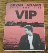 Vintage & Genuine Bryan Adams Into the Fire Tour 1987 Otto Backstage Pass Red