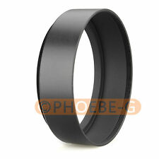 72mm Standard Metal Black Lens Hood for Canon Nikon Sony Pentax