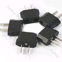 Black 5 x Universal Travel Charger AC Plug Adapter EURO EU AU TO US USA