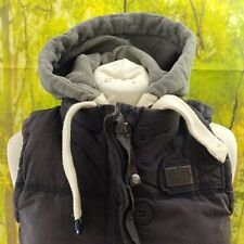Superdry Academy Dark Grey Down Gilet, 16% pit to pit, 24% length, size small.