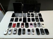 Lot of 39 Cellphones, Smartphones, Tablets - For Parts or Repair