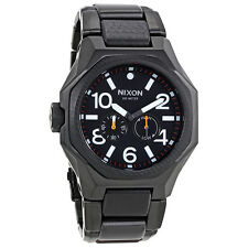 Nixon The Tangent Matte Black / Surplus Black Ionplated Watch NXA397001