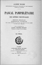 Pascal - Bibliographie générale des oeuvres de Blaise Pascal, 1925-1927