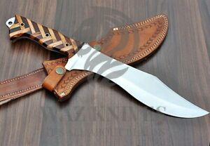 Bowie / Hunting Knife in D2 Tool Steel | Combat Knife | USA Knives | EDC Wood
