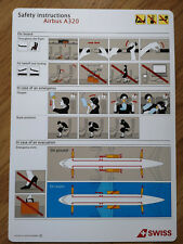 Swiss Airbus A320 Safety Card