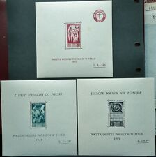 More details for poland in italy 1945 perf stamp minisheets - mnh - see!