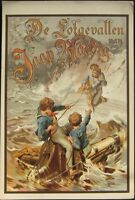 1890 Color Litho Print: Childrens Book Cover- Nautical Scene