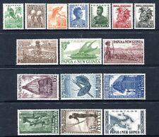 1952-58 Papua New Guinea Pictorial Definitives MUH Set of 16