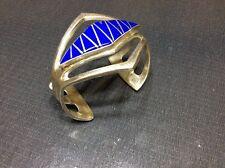 Sterling Silver & Lapis Lazuli Cuff Bracelet by Navajo Artist FL Begay.(54gr.)