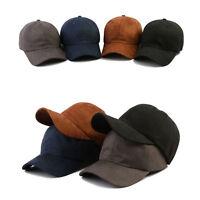 XL~2XL XXL 61~64Cm Mens Blank Plain Suede Baseball Cap Adjustable Trucker Hats