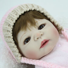 Alive Reborn Baby Girl Doll Full Body Silicone Newborn Gentle Touch Toy Gift22''