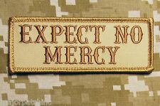 EXPECT NO MERCY USA ARMY BADGE ISAF DESERT VELCRO® BRAND FASTENER MORALE PATCH