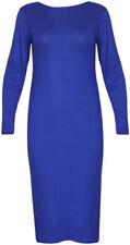 Vestiti da donna blu con girocollo taglia 48