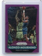 "2015-16 PRIZM #243 ALONZO MOURNING ""PURPLE REFRACTOR"" #2/99, CHARLOTTE HORNETS"