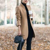 Hot Women Slim Blazer Suit Coat Stand Collar Formal Career OL Outwear New Jacket