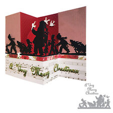 Merry Christmas Santa Claus Metal Cutting Dies Stencil Scrapbook Crafts Decors