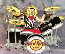 Hard Rock Cafe DENVER 2005 Blonde Haired MALE DRUMMER PIN Drum Kit - HRC #33475