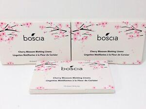 Boscia Cherry Blossom Blotting Linens (3x100 sheets)- Vegan, Cruelty-Free