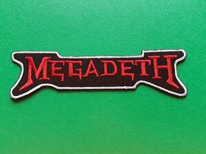 Megadeth Patch Punk Rock Heavy Metal Pop Music Sew/Iron On Badge