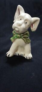"""Vintage Ceramic Crackle Glaze 5.5"""" Dog Puppy Planter Made In Japan"""