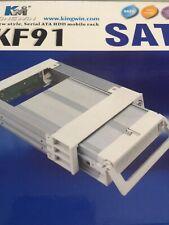 Kingwin KF91 KF-91 SATA Serial ATA HDD Beige Hot Swap Mobile Rack, New