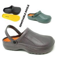 Mens Garden Clogs Mules Slipper Sandals Rubber Work Shoes Size UK 7 8 9 10 11