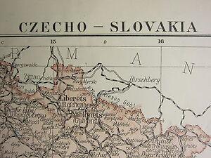 1919 LARGE MAP ~ CZECHO-SLOVAKIA ~ BOHEMIA MORAVIA