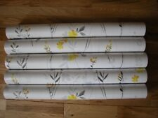 NEXT NATURAL GREY OCHRE HAPPINESS EDEN FLORAL Wallpaper Roll / 2 ROLLS